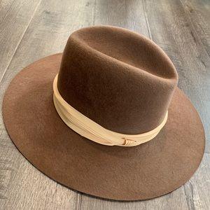Accessories - Vintage stiff brim wool rancher hat